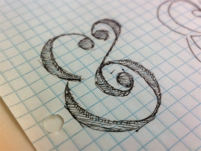 Ampersand sketch preview dribbble