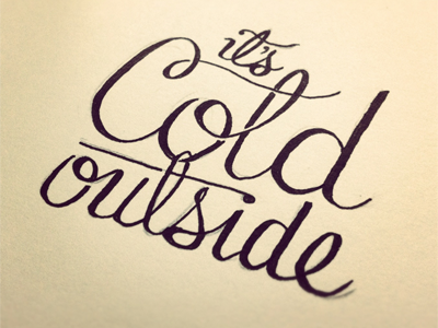 Its cold outside dribbble