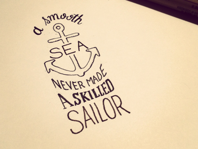 A smooth sea dribbble