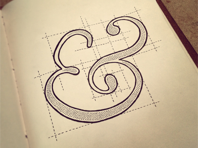 To Build an Ampersand: Baskerville Edition lettering typography sketch ampersand guides to build baskerville italic hand lettering