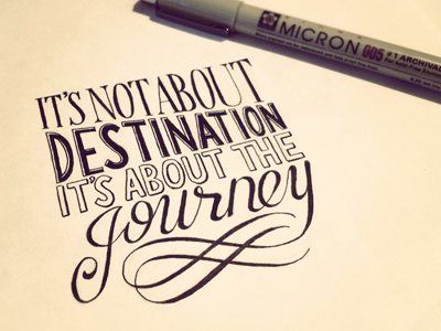 Its not about destination its about the journey dribbble