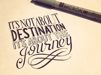 It's Not About Destination, It's About the Journey