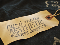 Hand-made Aesthetic – Hangtag
