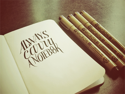 Always carry a notebook dribbble