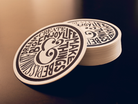 Ampersand Lifestyle Letterpress Coaster