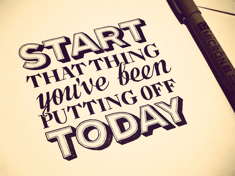 Just a friendly nudge lettering typography hand lettering start today