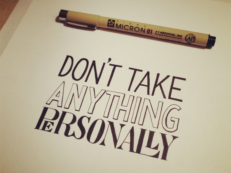 Don't Take Anything Personally by Sean McCabe