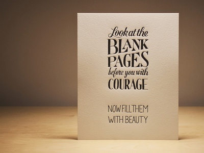 Blank Pages – Letterpress lettering hand lettering typography blank pages letterpress print