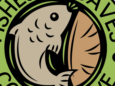 Fishes and loaves co-op fishes loaves co-op cooperative logo design