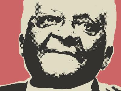 Desmond Tutu poster desmond tutu propaganda poster bds divest apartheid