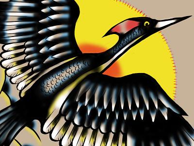 Lord god bird tattoo lord god bird tattoo ivory billed woodpecker illustration design