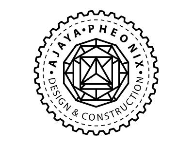 Ajaya Pheonix Logo ajaya pheonix design construction minimalist badge sacred geometry