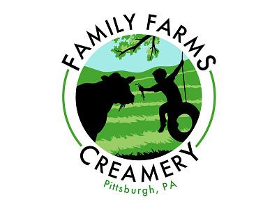 Family Farms Creamery logo family farms creamery logo design simple minimalist silhouette
