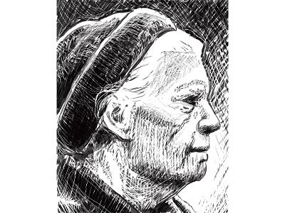 Dorothy Day dorothy day sketch print catholic worker