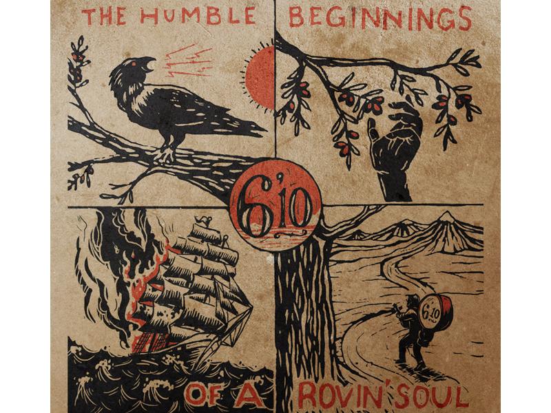 6'10 Album Design 610 six ten album cover art design rovin soul folk music