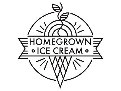 Homegrown Ice Cream logo homegrown ice cream logo minimalist simple design