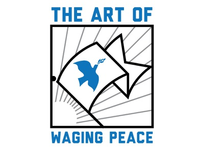 Waging Peace design waging peace banner flag graphic design minimalism