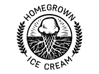 Homegrown Ice Cream logo - 2 homegrown ice cream logo design