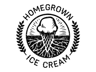 Homegrown Ice Cream logo - 2