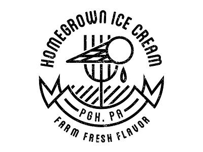 Homegrown Ice Cream Logo - 3 homegrown ice cream logo minimalist simple design