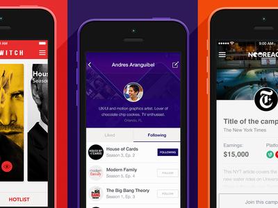 Mobile iOS App Designs