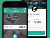 NeoReach iOS Mobile App