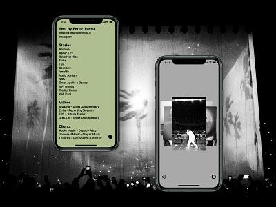 Enrico Rassu Website wearenotstudio graphic  design photographer ux webdesign ui design