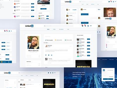 UX/UI Linkedin Redesign user interface ui uxui ux design user experience user interface ux ui typography illustrator adobe graphic design