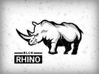 BLCK Rhino Illustration
