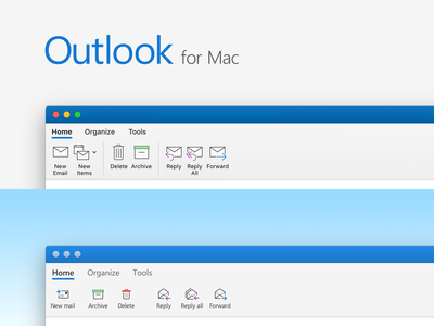 Outlook for Mac Toolbar redraw