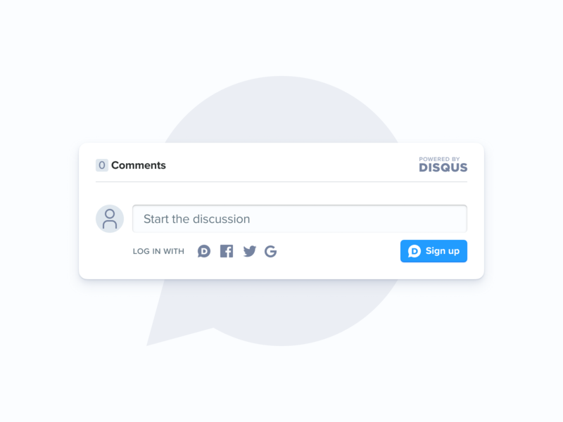 Disqus without the cruft