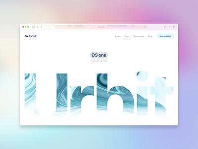Urbit OS one landing page