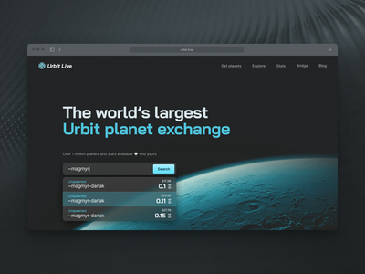 Urbit Live homepage