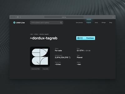 Urbit Live planet product page