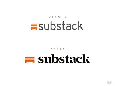 Substack logo redesign substack