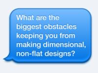 Obstacles Survey (Flat Design)