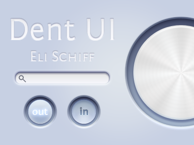 Dent UI buttons knob ui kit