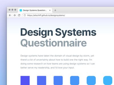 Design Systems Questionnaire