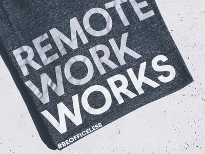 Remote Work Works ✌️ remote control type remotework remote work remote bold texture typeface typo t-shirt design