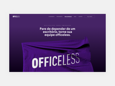 Officeless Landing Page proposal remote working remotework desktop websites hero home concept website design design website webdesign