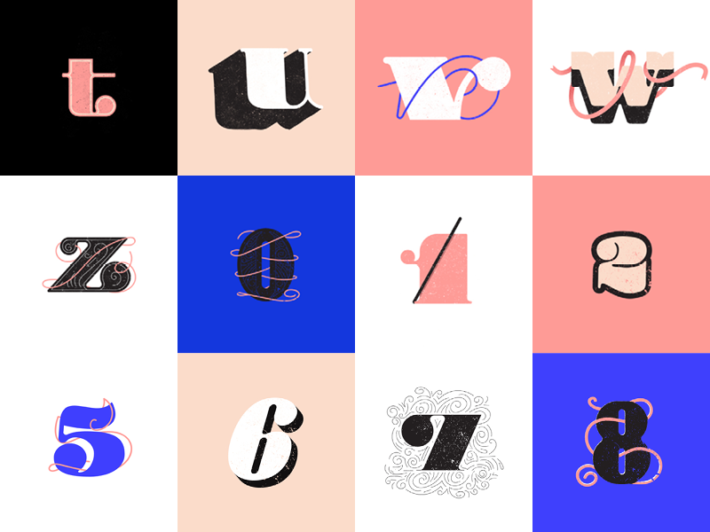 36days Of Type V.2 36daysoftype03 type lettering four font fat bold black 36daysoftype