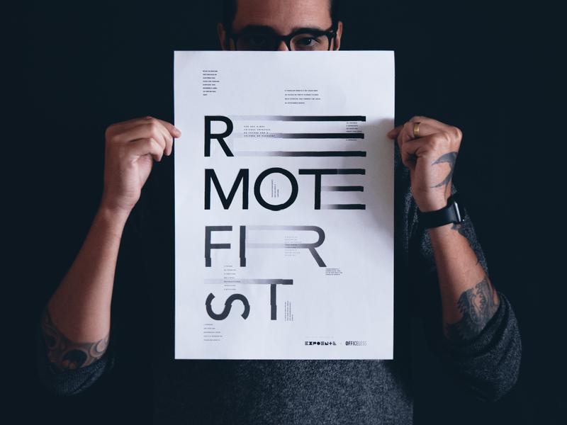 Remote First ⏤ A Short documentary design brazil movies trabalho remoto work worker frame trabalho remoto remote remote work cartaz movie film short film documentário filme poster type