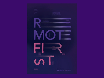 Remote First ⏤ Posters poster design remote movieposter trabalho remoto remote design remote work design brazil poster type