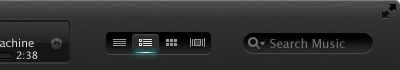 iTunes itunes search segmented control