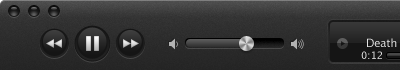 iTunes itunes pause play volume slider