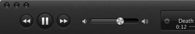 iTunes itunes pause play volume slider