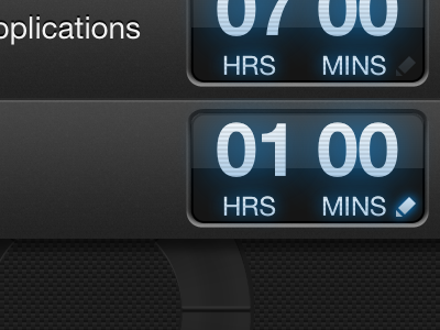 Cycles Clock ios time tracking hours blue glow