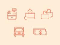 Farmer's Market Icons