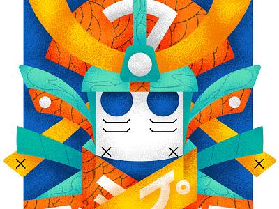 Samurai - Series 9/9 pen posca france sketch montreal japan flatdesign drawing canada illustrator artwork illustration graphic graphicdesign design motion animation artsy digitalart art