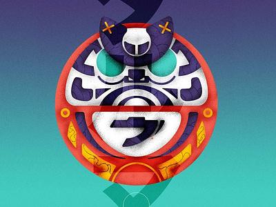 Daruma - Series 1/6 vector graphic motion pen posca france sketch montreal japan drawing canada illustrator artwork illustration graphicdesign design animation artsy digitalart art